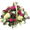 Funeral Basket in Cerise and Cream